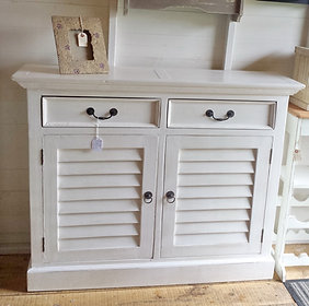 White Console Cupboard