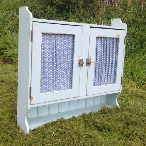 Blue Chicken Wire Cabinet