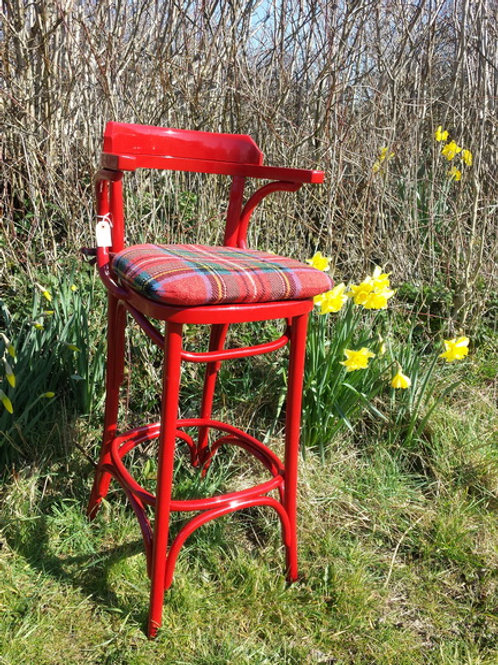 Red Bentwood Chair