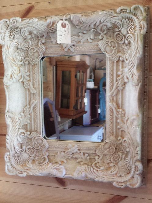 Ornate Cream Mirror  SOLD