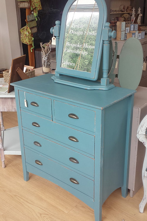 Blue Chest with cup handles