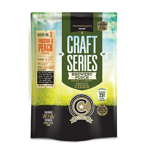 Mangrove Jacks Craft Series Peach & Passionfruit Cider