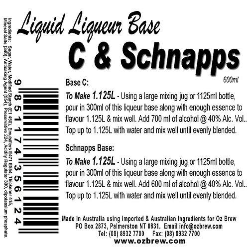 Oz Brew Liquid Liqueur Base C & Schnapps