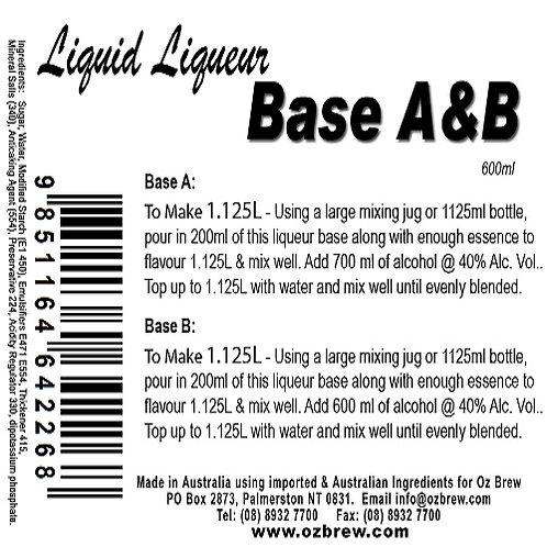 Oz Brew Liquid Liqueur Base A & B