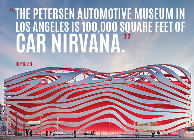 Vote for Petersen Automotive Museum Best Transportation Museum from USA TODAY!