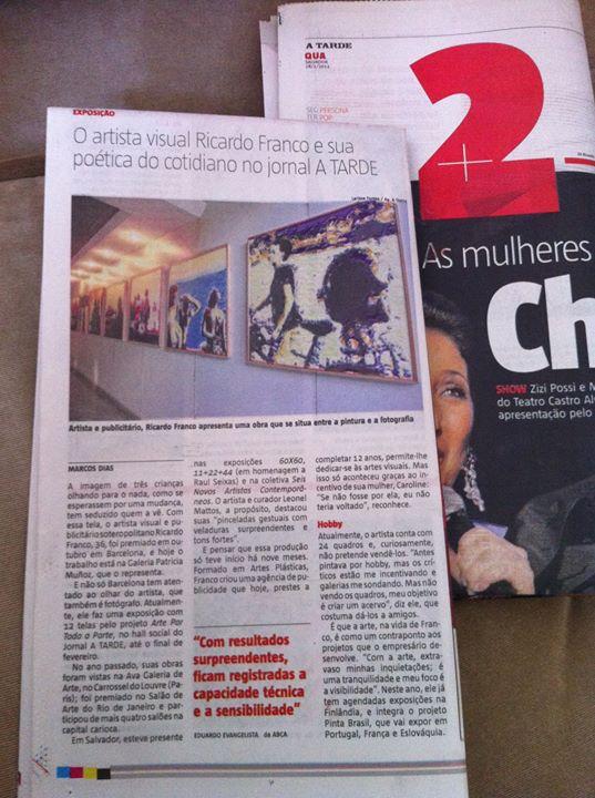 Facebook - Exposição no Jornal A Tarde!
