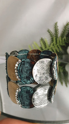 Patina Discs Bracelet