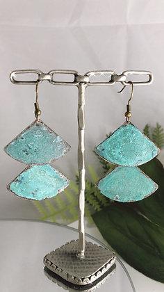 Double Wedge Patina earrings