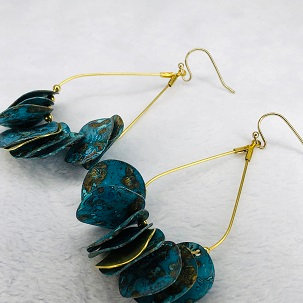Patina Disc Earrings