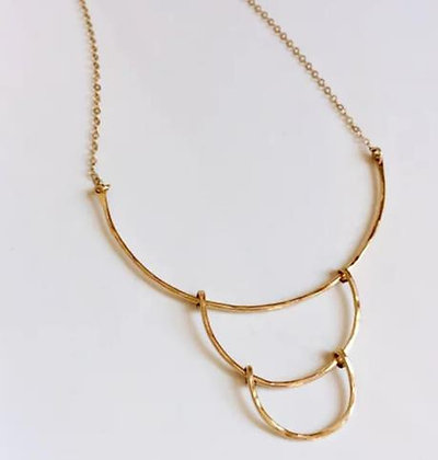 Cascading Wire Curves Necklace