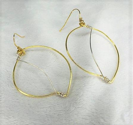 Wire Leaf Earrings
