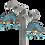 Thumbnail: Patina Turquoise Arc Earrings