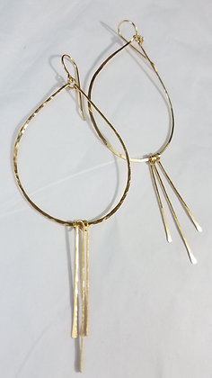 Large Gold Drop earrings