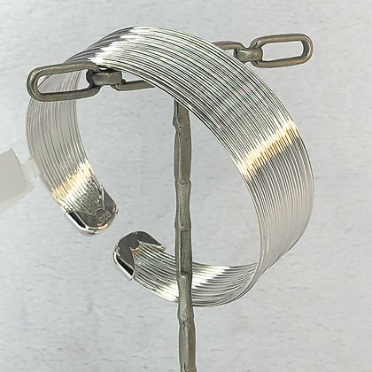 Multi Wire Silver Bangle