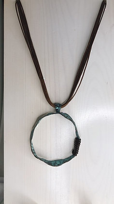 Patina Large Circle Pendant