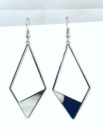 Diamond Shape Metal Earrings
