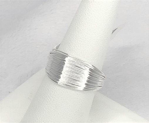 Multi Wire Silver Ring
