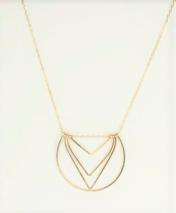Gold Multi Wire Pendant
