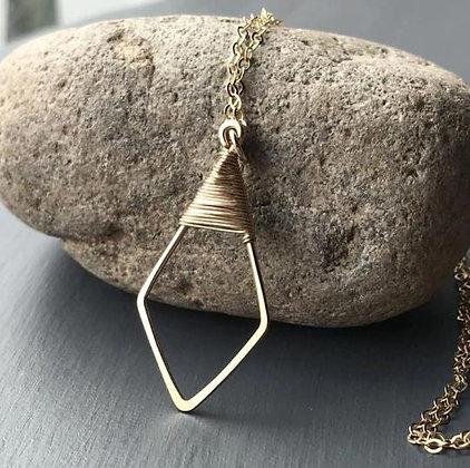 Wire Wrapped Diamond Pendant