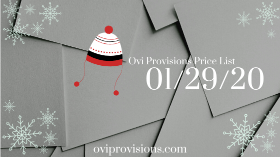 Price List 01/29/20