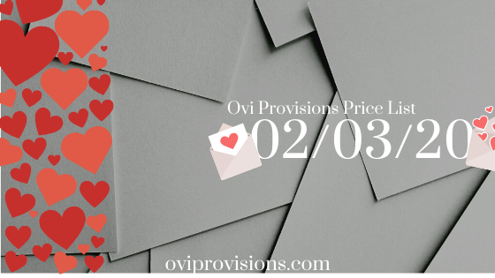 Price List 02/03/20