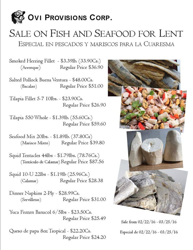 Sale on Fish & Seafood For Lent