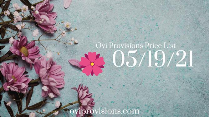 Price List 05/19/21