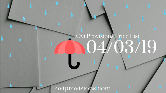 Price List 04/03/19