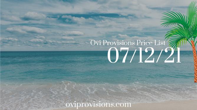 Price List 07/12/21