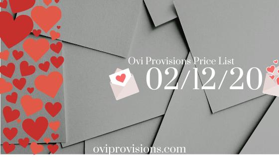 Price List 02/12/20