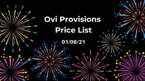 Price List 01/06/21