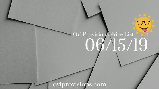 Price List 06/15/19