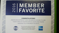 We are one of American Express' Memeber Favorites For 2016