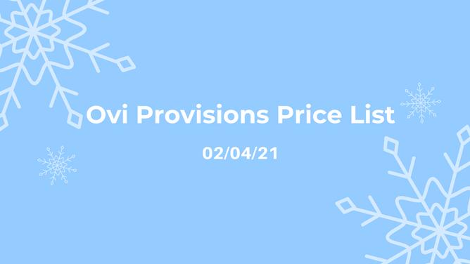 Price List 02/04/21