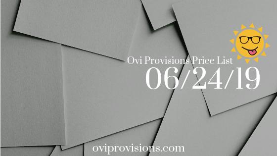 Price List 06/24/19