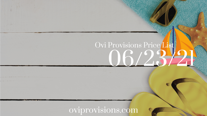 Price List 06/23/21