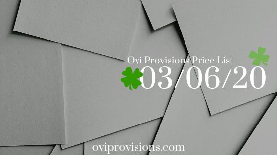 Price List 03/06/20