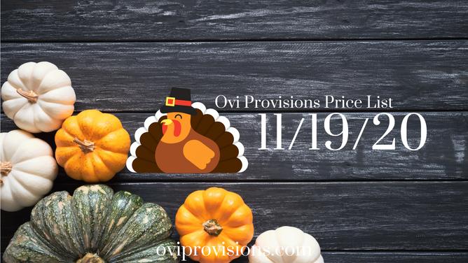 Price List 11/19/20