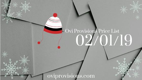 Price List 02/01/19