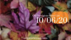 Price List 10/06/20
