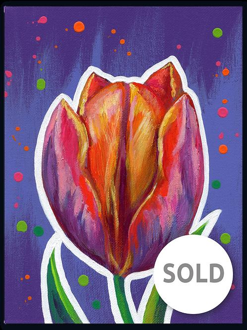 Schilderij Tulp multicolor | ArtaFlora | FLOWER POWER collectie SOLD