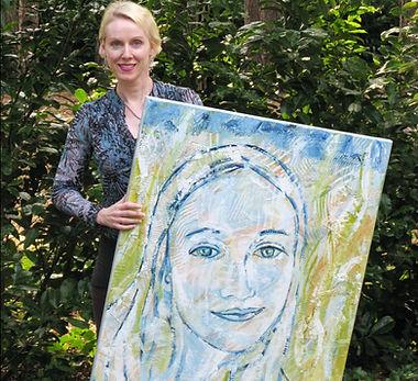 Portret schilderij in opdracht