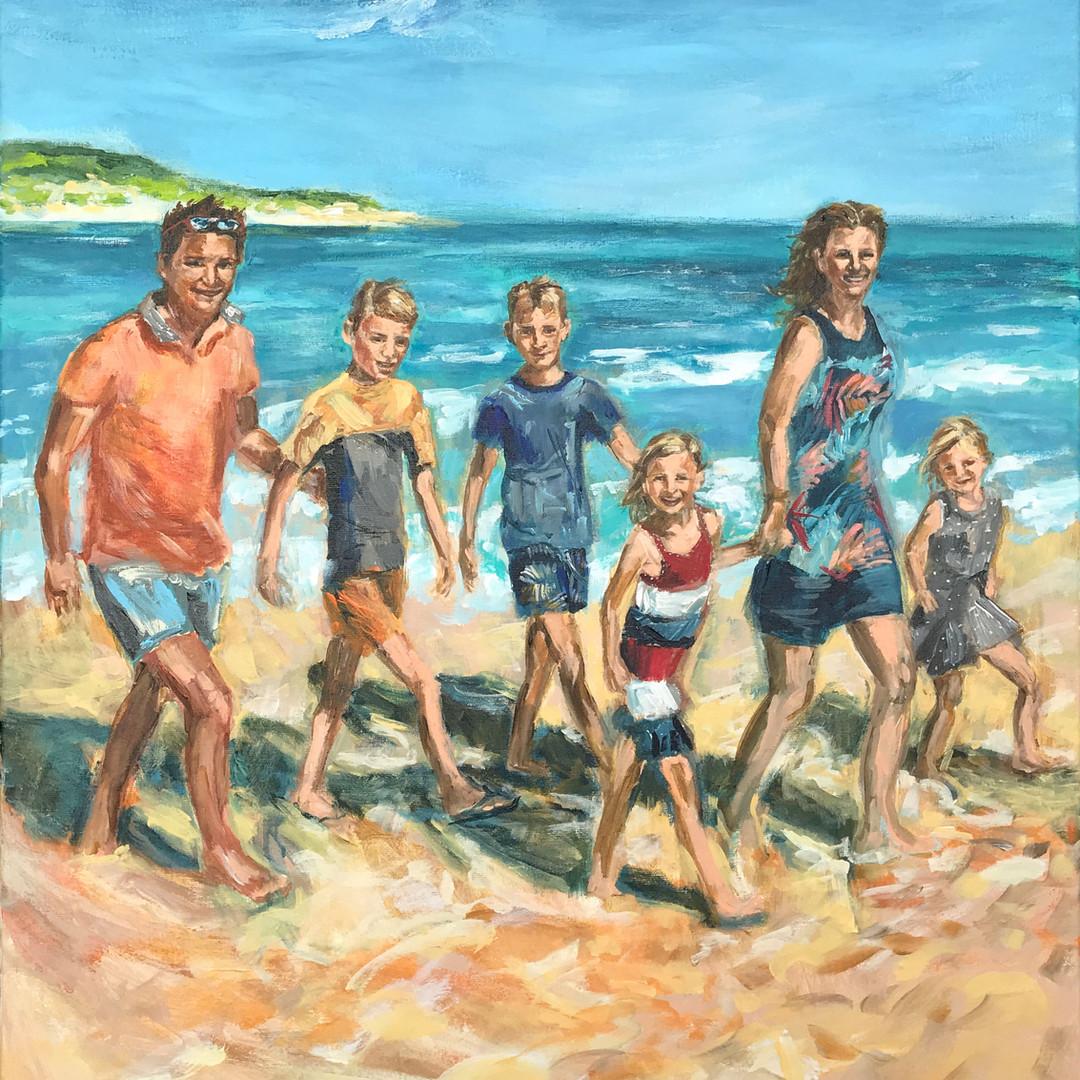 Persoonlijke kunst ART Eva Maria familieportret Love and Life Paint