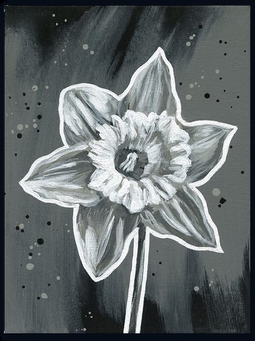 Schilderij Narcis | ArtaFlora | NIGHT & DAY collectie