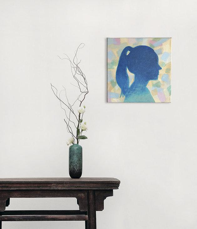 Silhouet portret een duurzame trend in de kunst