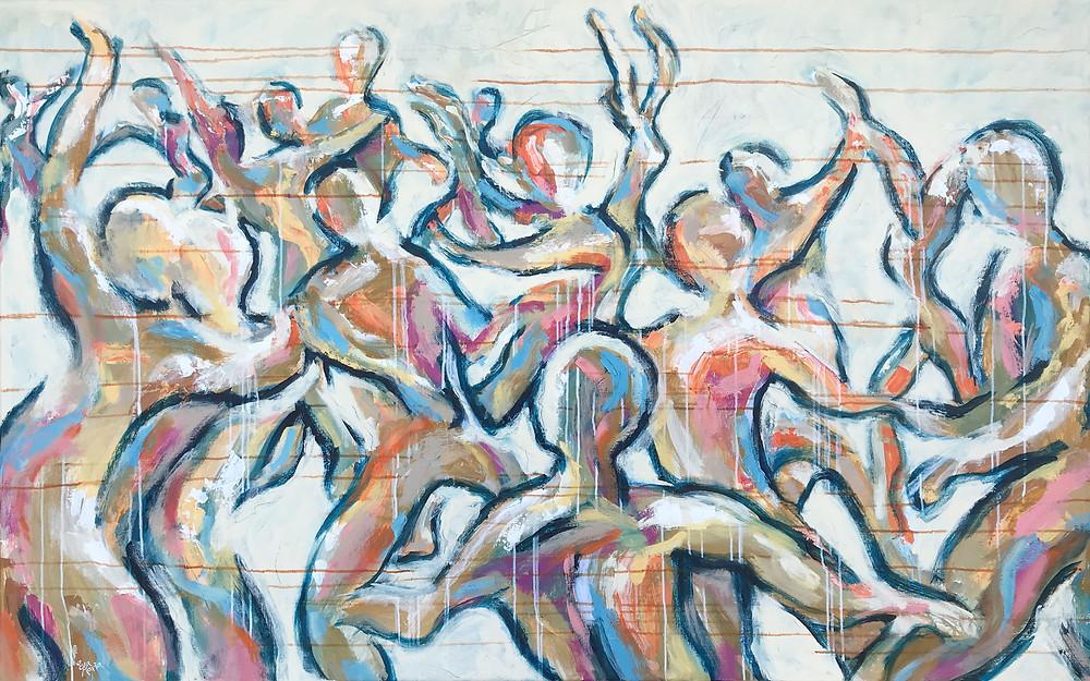 Schilderij 1 van tweeluik: When will we dance together again