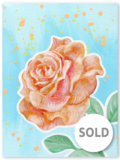 Schilderij Roos | ArtaFlora | PRETTY PASTEL collectie SOLD