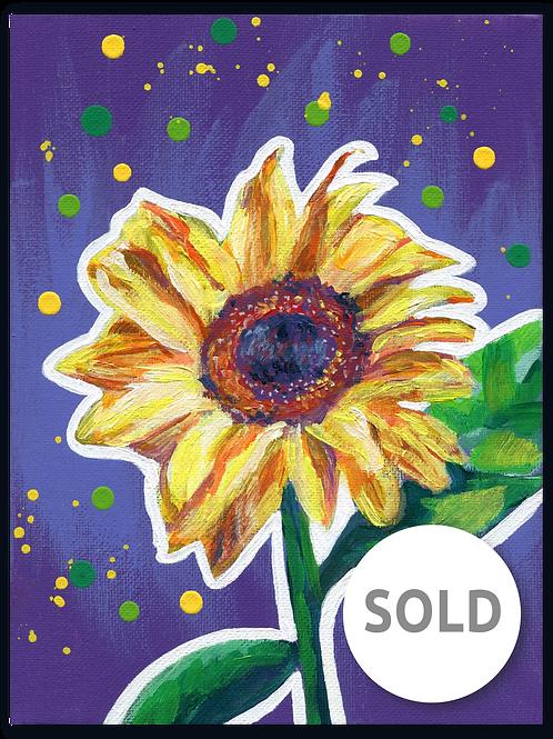Schilderij Zonnebloem | ArtaFlora | FLOWER POWER collectie SOLD
