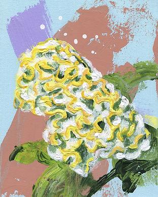 Schilderij van Celosia Act Vida