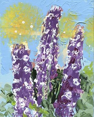 Ridderspoor schilderij Floral Art